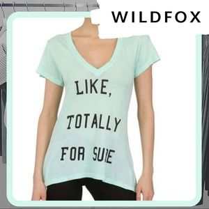 NWT WILDFOX Totally For Sure V-Neck T-Shirt